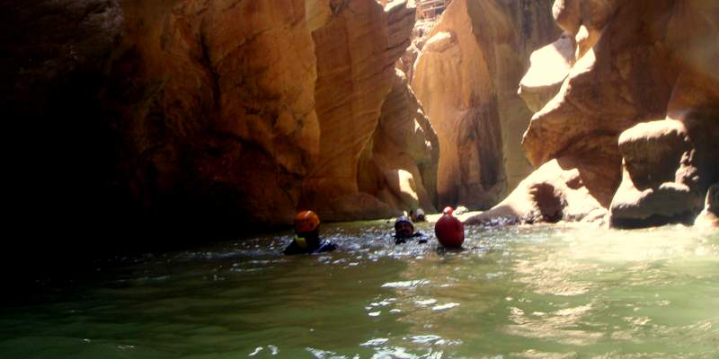 Canyoning in Benahavis in a cave