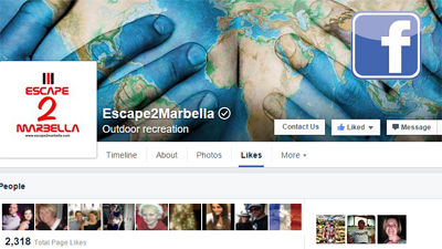 facebook logo for escape2marbella